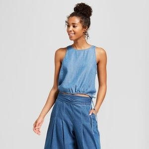 Universal Thread Chambray Sleeveless Denim Tank